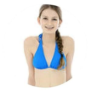 alfombrilla de ratón Adolescente en la sentada del bikini - ronda - 20cm
