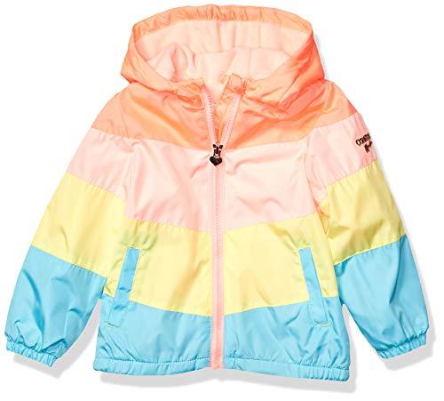 Toddler Girls Jacket - OshKosh B'Gosh Girls' Toddler Midweight Jacket with Fleece Lining, Rainbow Blocked, 2T