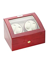 Diplomat Men Cherry Wood Quad Watch Winder 31-414
