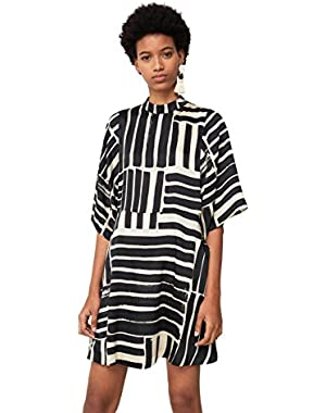 Mango Women's Printed Flared Dress