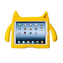 Ndevr IPD-X01-YL-NDR000 iPadding Kids Friendly Children Safe Protective Safe Eva Foam Shock Proof Sound Tunnel Adjustable Angle Stand Case Cover for Apple iPad 4/3/2, Yellow