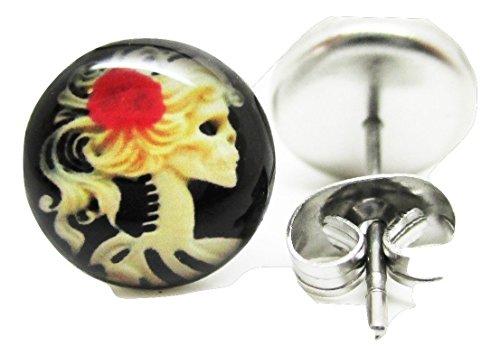 Skeleton Girl Sugar Skull Earrings product image