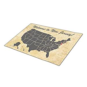 Cronoly Doormat Geography Illustration Foot Mat