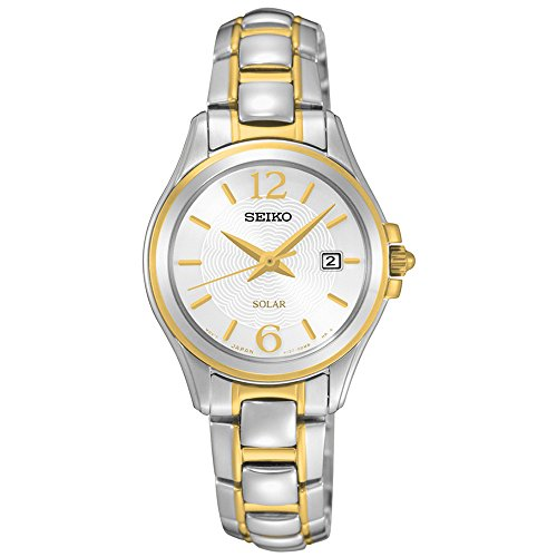 (Seiko SUT250 Women's Core Stainless Steel Two-Tone Bracelet Band White Dial Watch)