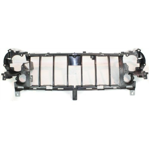CAPA Header Panel Compatible with JEEP LIBERTY 2005-2007 Grille Reinforcement Thermoplastic with Fog Lamps