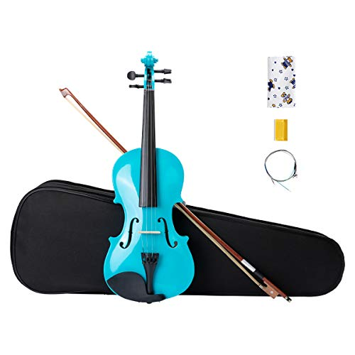 ARTALL 4/4 Handmade Student Acoustic Violin Beginner Pack with Bow