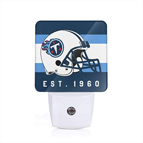 Gdcover Tennessee Titans Helmet Design Plug-in LED Night Light with Dusk-to-Dawn Sensor for Bedroom ()