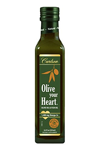 Carlson Olive Your Heart, Natural, Olive Oil and Omega-3s, 1,480 mg Omega-3s, 250 mL ()