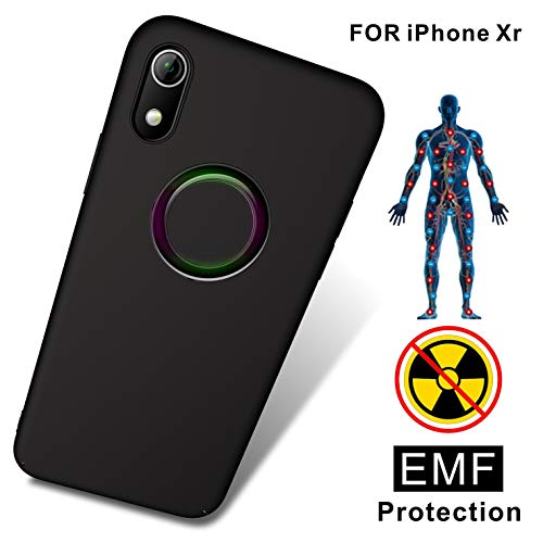 Antiradiation Cell Phone - TAGCMC Anti-Radiation Cell Phone Case, EMF Protection & Negative Ion Energy, Ultra Thin Hard Cover Soft Slim Fit Shell Full Body Protection for Apple iPhone XR - (Only for iPhone XR - Black)