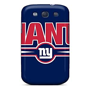 Shock Absorbent Hard Phone Cases For Samsung Galaxy S3 (CgD2627oWcd) Provide Private Custom Trendy New York Giants Pattern
