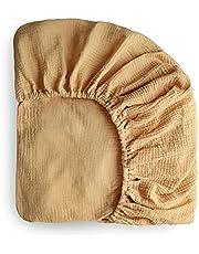 "mushie Extra Soft Muslin Fitted Crib Sheet | 28""x 52"""