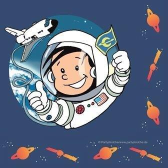 servilletas astronaut flo juego de de cumpleaos fiesta temtica