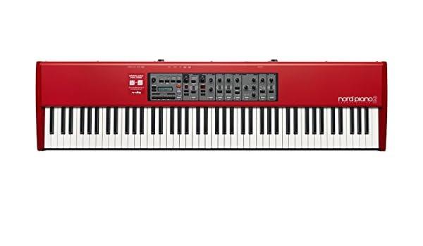 Clavia DMI AB Nord Piano 2 HA88 - Teclado electrónico (128,7 cm, 34 cm, 12,1 cm, LCD, USB B, 6,3 mm) Negro, Gris, Rojo, Color blanco: Amazon.es: ...