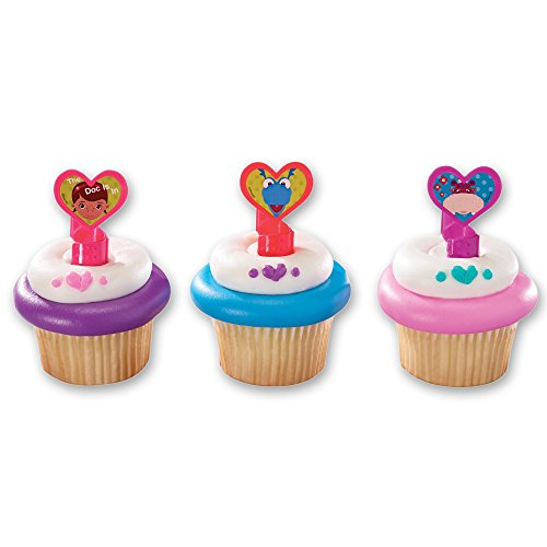 Price comparison product image DecoPac Doc McStuffins Doc and Friends Cupcake Rings (12 Count)