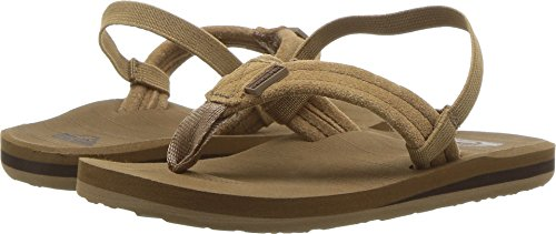 Quiksilver Boys' Carver Suede Sandal, Tan-Solid, 9(26) M US (Slater Leather)