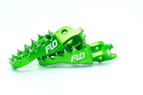 Flo Motorsports Green Kawasaki KXF250/450 Foot Pegs Fpeg-792Grn by Flo Motorsports (Image #3)