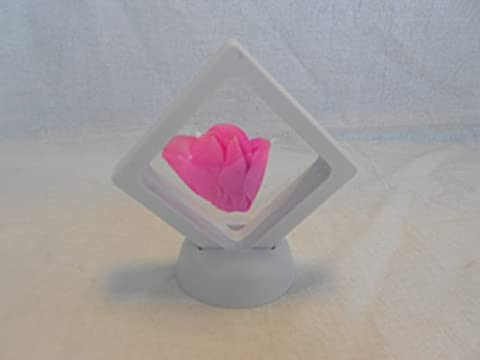 3D Display Floating Frame, Display Case, Shadow Box, Excellent for Jewelry, Shells, Stones, Coins, Flowers collected (Small, White)