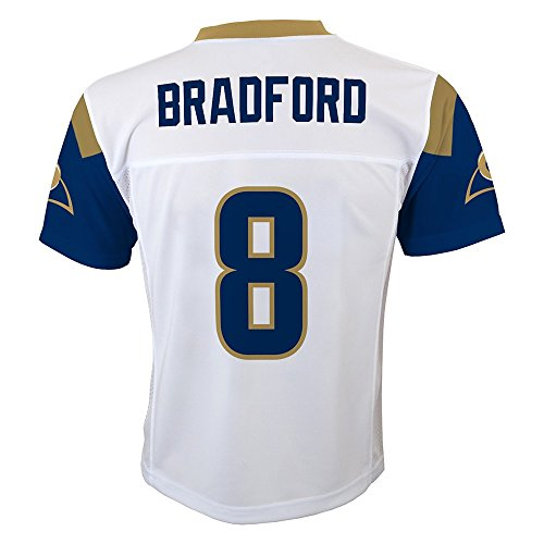 OuterStuff Sam Bradford NFL Los Angeles Rams Mid Tier White Away Jersey Boys (4-7)