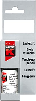 Kwasny Auto K Lackstift 1 Schicht Lack Stift Original Farbton Ebenhozschwarz L041 9 Ml Auto