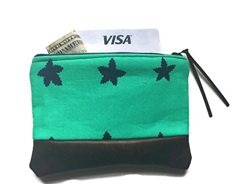 Stars in Blue Leather Pouch, Coin Purse
