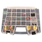 Jameco Valuepro DELUXE1 Deluxe Electronics Kit with 219 pieces, Resistors/Transistors/Switches and Wire Potentiometers