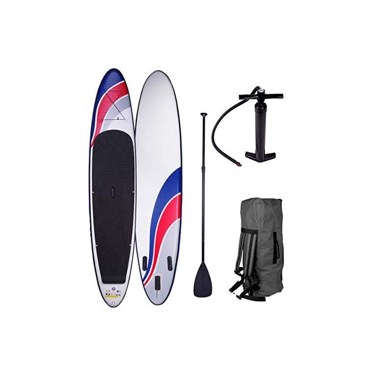BRAST SUP Board Stand up Paddle Paddling 7 Modelle 300-365cm aufblasbar bis 150KG gewebtes Drop Stitch Alu-Paddel Pumpe…