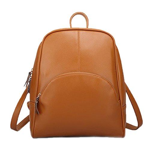Catkit Vintage Womens Simple Design Tote Handbag Shoulder Backpack Bag Brown Wbp0019-zong