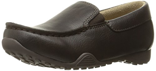 Dark Brown Kid Suede Footwear - The Children's Place Boys' Dressy Shoe Ballet Flat, Dark Brown, TDDLR 9 M US Little Kid