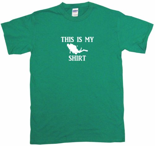 This is my Scuba Diver Logo Shirt Big Boy's Kids Tee Shirt Youth Large-Green ()