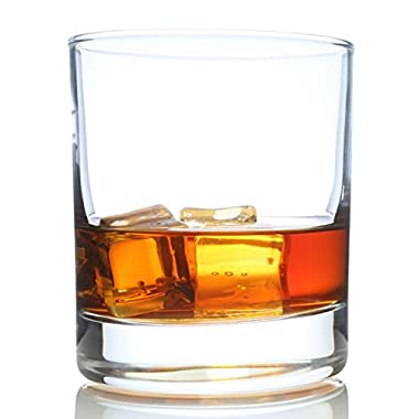 Taylor'd Milestones Scotch Glasses, Premium 10 oz Whiskey Glass, Set of 2 Rocks Style Glassware for Bourbon and Old Fashioned Cocktails