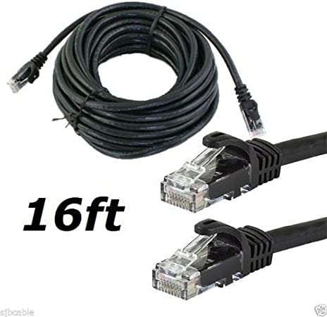 RJ45 CAT5 CAT5e Ethernet LAN Network Patch Cable for PC PS Internet Router Black 200FT