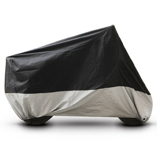 Black Silver Motorcycle Cover For BMW F800GS F800R F800ST PM2BS UV Dust Prevention XL ()