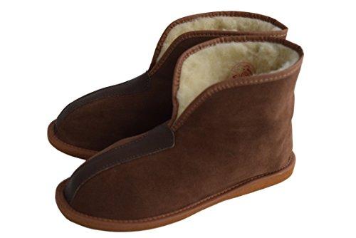 Größe Unisex Damen Herren 12 Leder Stiefel 3 Schafwolle Natural Suede Hausschuhe Ausgekleidet und 2 Brown rzrwRg4q