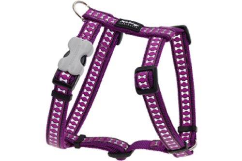 Red Dingo Reflective Dog Harness, Small, Purple
