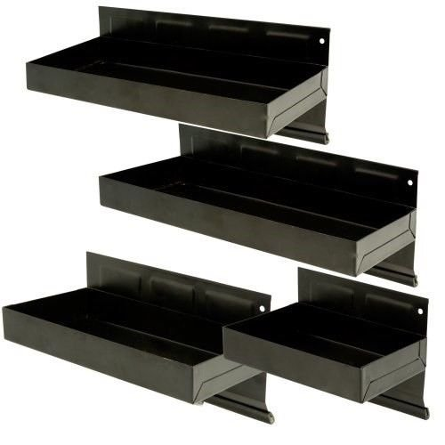 4 Pc. Magnetic Tool Storage Cabinet Tray Parts Shelf Set (Van Shelving Accessories)