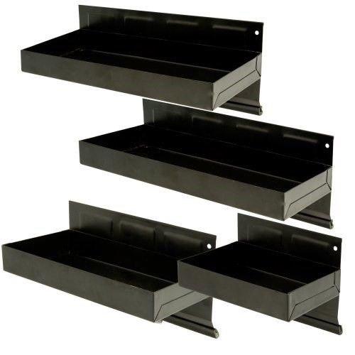 (4 Pc. Magnetic Tool Storage Cabinet Tray Parts Shelf Set)