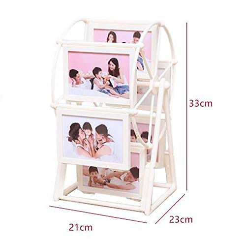 Holding 8pcs 6 inches Pictures Funove Metal Picture Frame 360 Degree Rotating Stainless Steel Photo Frame for Table Top