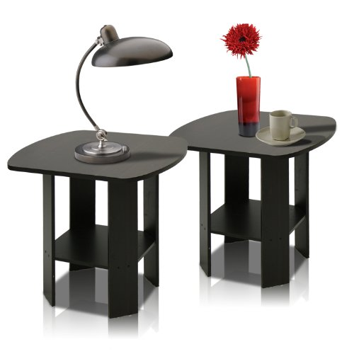 Price comparison product image Furinno 2-11180EX Simple Design End Table Set of Two,  Epsresso (Espresso)