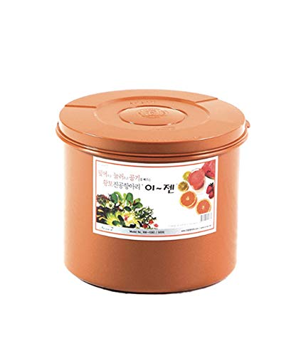E-Jen Premium Kimchi, Sauerkraut Container Probiotic Fermentation with Inner Vacuum Lid Round (2.1 gal/ 8L)