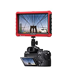 Lilliput A7S 7 Inch On Camera Field Monitor Supports 4K HDMI Input Loop Output 1920x1200 Native Resolution 1000:1 Contrast 500cd/m2 Brightness 170 Degree Wide Viewing Angle + CANON LP-E6 battery plate