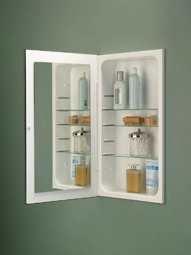 Amazon.com: Broan NuTone 1035P24WHG Cove Single-Door Recessed Mount  Frameless Medicine Cabinet, 14 by 24-Inch: Home Improvement