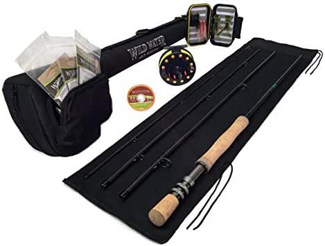 DELUXE Wild Water Fly Fishing Complete AX78-090-4 Starter Package (Freshwater Fly Assortment)