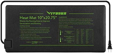 VIVOSUN Durable Waterproof Seedling Heat Mat Warm Hydroponic Heating Pad 10 x 20.75 MET Standard