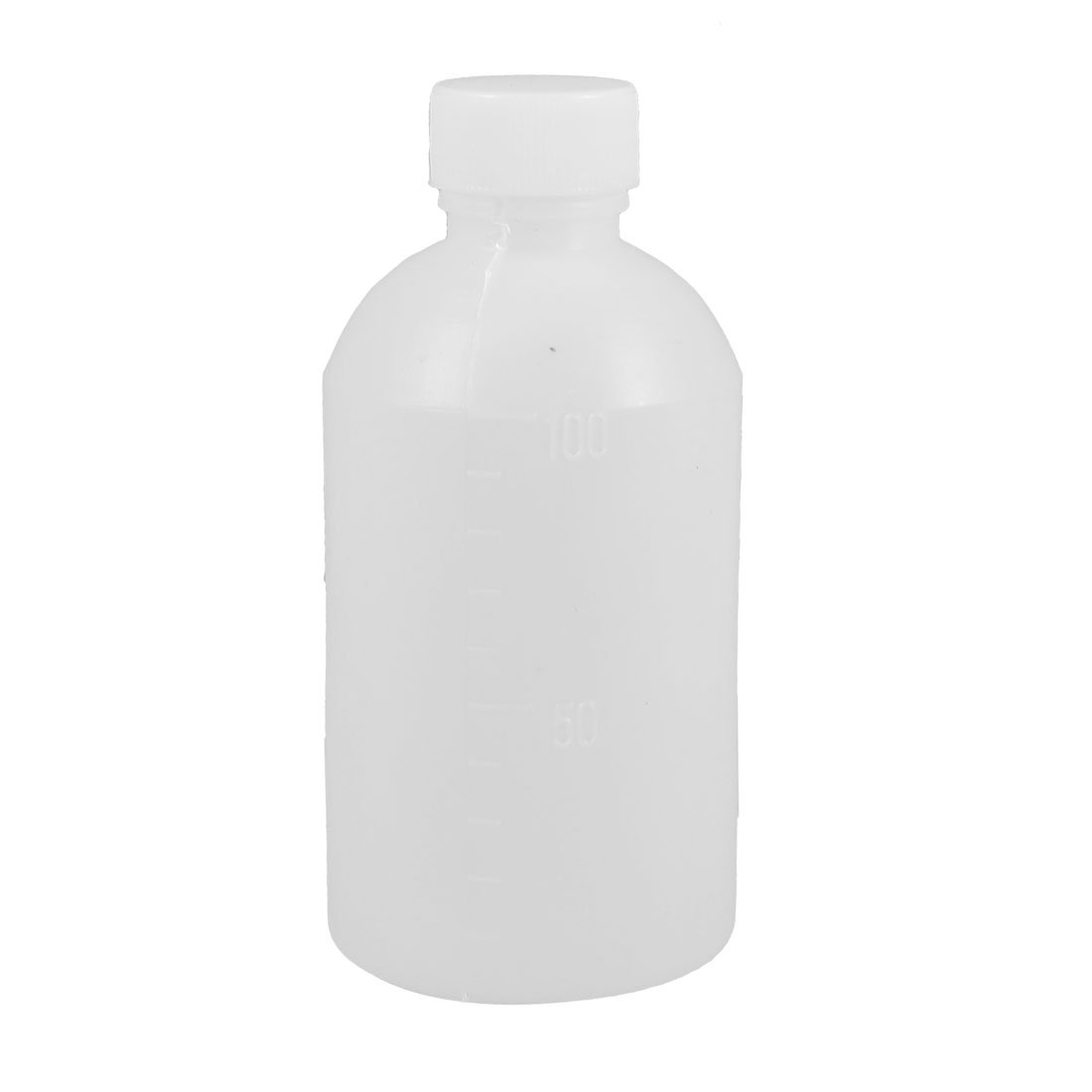uxcell 100mL Capacity Laboratory Graduated White Plastic Carboy Bottle