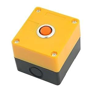 12 V 2-terminales de plástico Rectángulo de lámpara de luz naranja