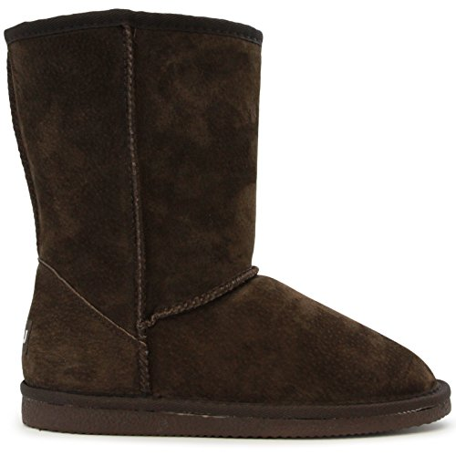 Lamo Women's Lady's 9 Inch Snow Boot, Chocolate, 11 M US ()