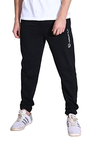 VERSATYL Men's Slim Fit Blended Cotton Joggers with Zip Pockets