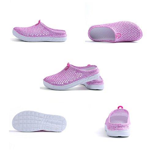 Sabots 161 Walking Chaussures pour rose Slip YUTUTU Femmes Hommes Anti Foot Sandales Plage Unisexe Douche Léger Mesh Jardin Pantoufles HnnwATfE
