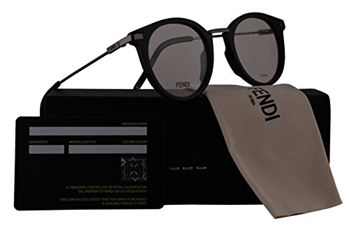 Fendi FF0227 Eyeglasses 48-22-145 Grey w/Demo Clear Lens KB7 FF - Fendi Frames Spectacle