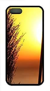iPhone 5 5S Case Nature Grass Sun TPU Custom iPhone 5 5S Case Cover Black